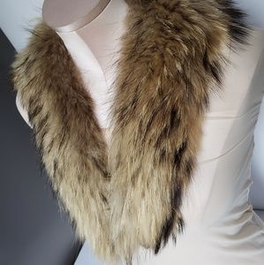 Vintage Accessories - Vintage Authentic raccoon stole pelt soft long tip